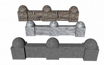 Medieval Stone Wall 3D Render