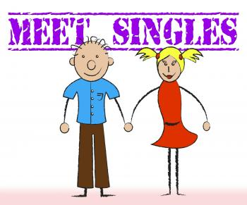 Meet Singles Indicates Met Togetherness And Adoration