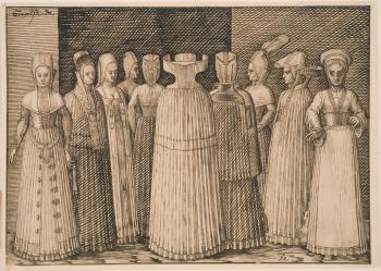Melchior Lorck (1526/27-88), Ten Women of Stralsund, 1571/73. kks1966-13
