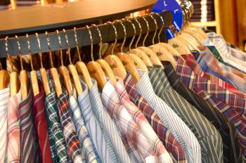 Men's Shirts Hanging on the Rack