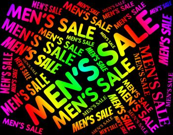 Mens Sale Means Person Offers And Offer