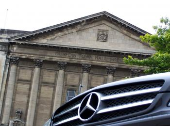 Mercedes CLS 350 at Dunedin Town Hall