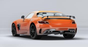 Mercedes SLS AMG Orange