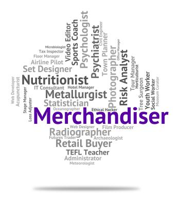 Merchandiser Job Shows Hire Words And Work