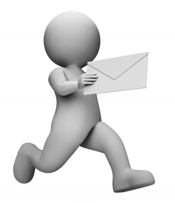Message Letter Represents Communication Envelope And Mailing 3d Render