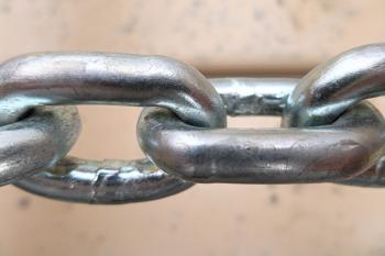 Metal chain close-up
