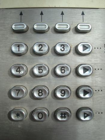 Metal phone dial-pad