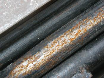 Rusted metal pipe