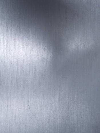Metallic aluminium surface