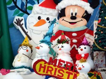 Mickey Mouse Disney Christmas Scene