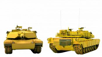 Military Tank, Front and Back