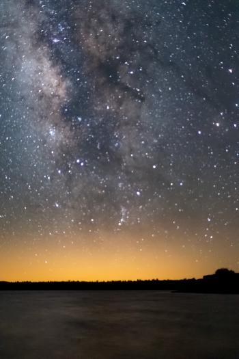 Milky Way over Ashurst Lake
