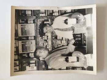 Mindy's Grandpa Morris Weiss at his nightclub in Baltimore with Joe Lewis.