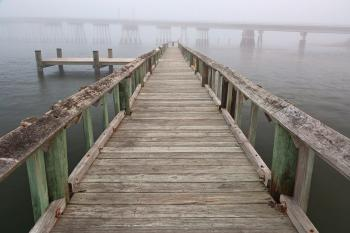Misty Assateague Pier - HDR