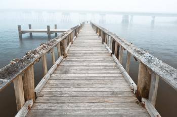 Misty Assateague Pier - High Key HDR