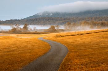 Misty Dawn Golf Course - Gold Fantasy HDR