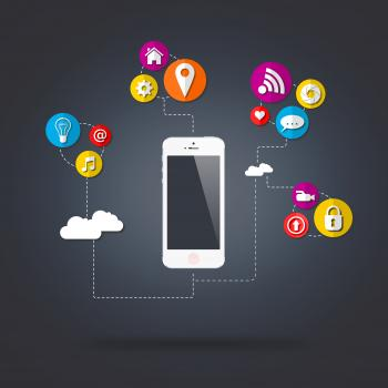 Mobile device connecting with the digital cloud