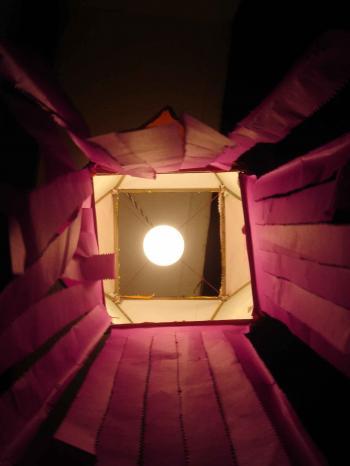 Moon through the box