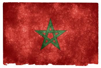 Morocco Grunge Flag