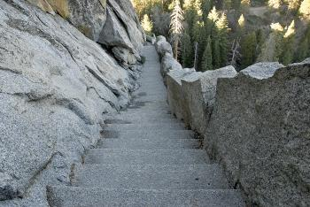 Morro Rock Stairs in Sequoia National Pa