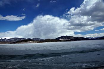 Mountain Clouds over Icy Lake Dillon