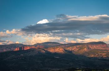 Mountain Panorama at Dusk