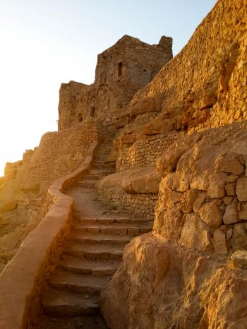 Mountain stairs inthe ancient Berber vil