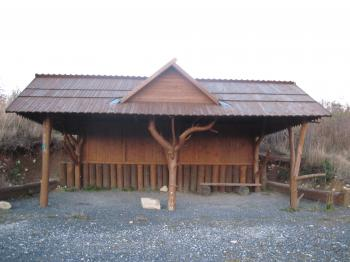 Mountain wooden shed