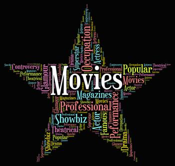 Movies Star Indicates Motion Picture And Film