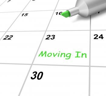 Moving In Calendar Means New Home Or Tenancy