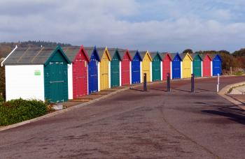 Multi Coloured Beach Huts