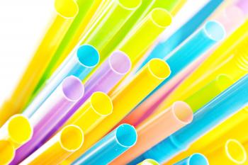 Multicolored Drinking Straws