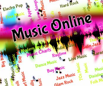 Music Online Shows World Wide Web And Harmonies