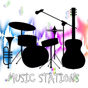 Music Stations Shows Sound Tracks And Audio