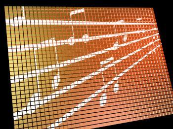 Music Symbols On Screen Showing Online Radio Or Audio