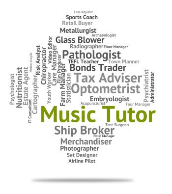 Music Tutor Indicates Sound Track And Audio