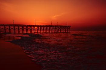 Myrtle beach pier sunrise