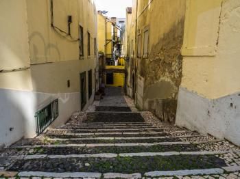 Narrow street of Lisbon