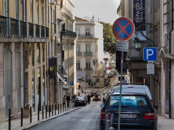 Narrow streets of Lisbon