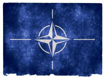 NATO Grunge Flag