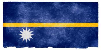 Nauru Grunge Flag