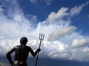 Neptune and sky