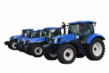 New tractors isolated