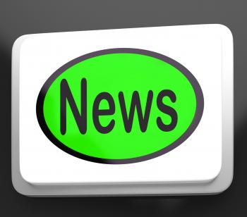 News Button Shows Newsletter Broadcast Online
