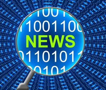 News Online Represents Web Site And Computer