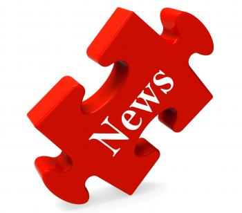 News Puzzle Shows Media Journal Newspapers And Headlines