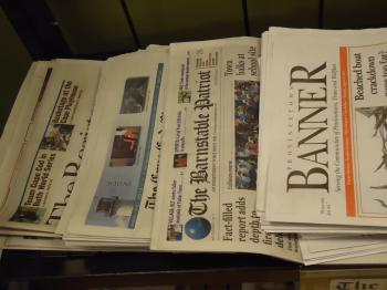 Newspapers for sale