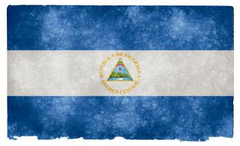 Nicaragua Grunge Flag