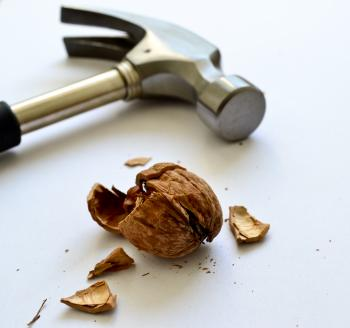 Nice hammer with a walnut