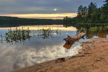Nicks Lake Sunset - HDR